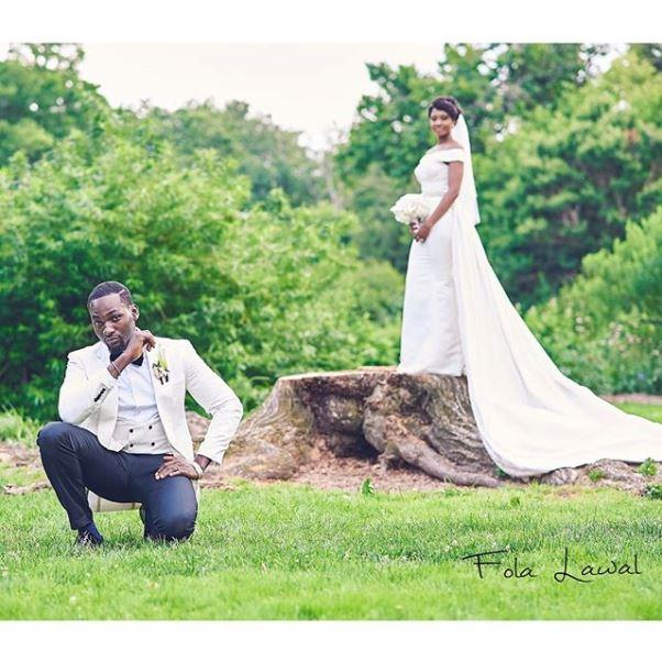 Gbenro Ajibade Osas Ighodaro White Wedding LoveweddingsNG18