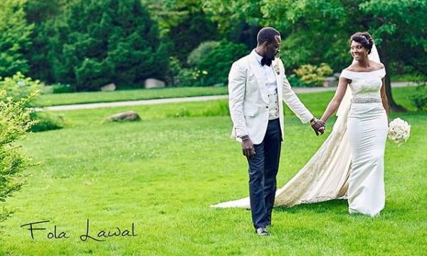 Gbenro Ajibade & Osas Ighodaro's White Wedding in New York: First Pictures