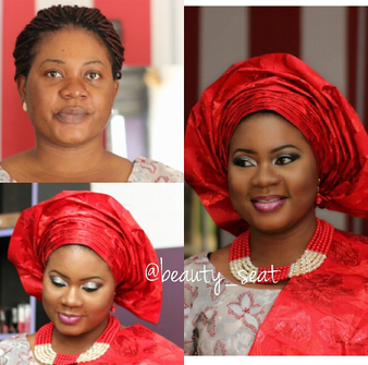 LoveweddingsNG Before and After - Beauty Seat1