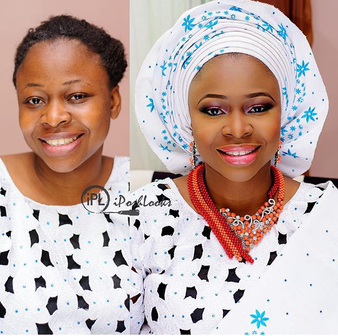 LoveweddingsNG Before and After - IPosh Looks1