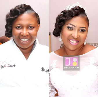 LoveweddingsNG Before and After - Jojos Touch