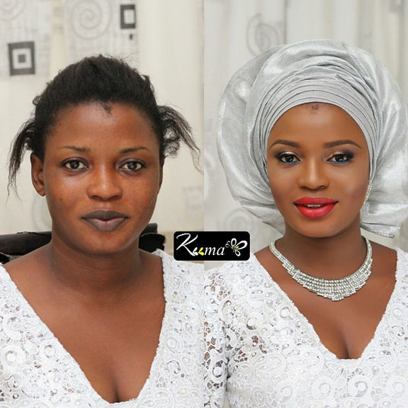 LoveweddingsNG Before and After - Keema MUA