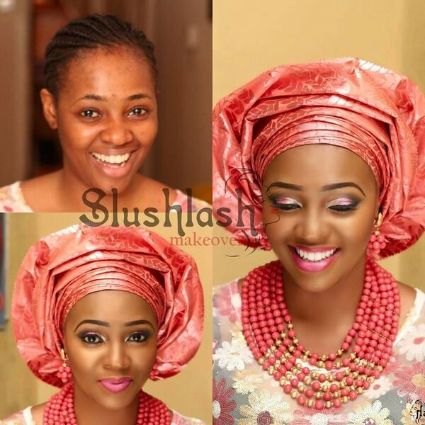 LoveweddingsNG Before and After - Slushlash Makeovers