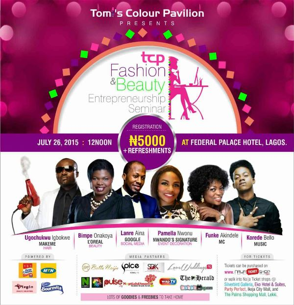Tomi's Colour Pavilion Fashion and Beauty Entreprenuership Seminar LoveweddingsNG