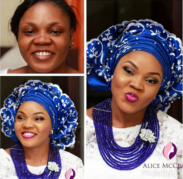 LoveweddingsNG Before and After - Alice McCrown