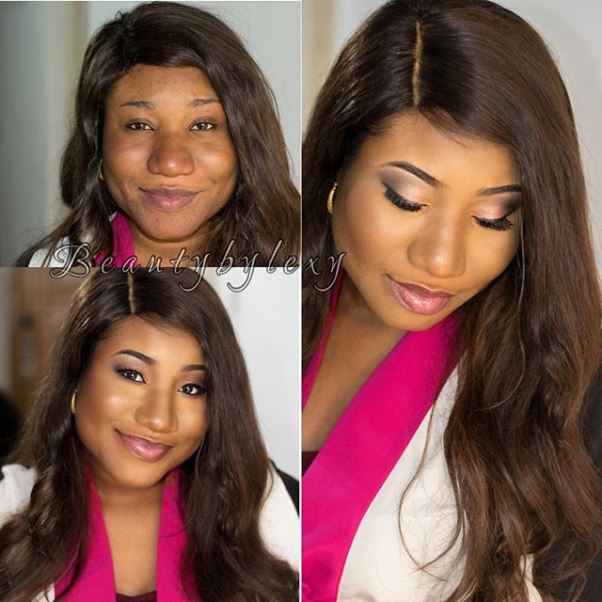 LoveweddingsNG Before and After - Beauty by Lexy