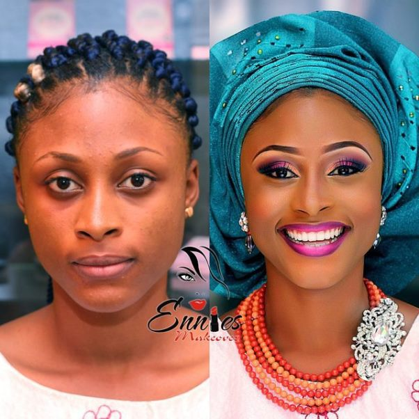 LoveweddingsNG Before and After - Ennies Makeover