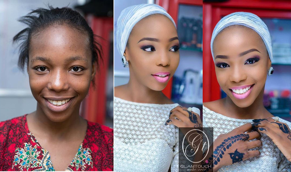 LoveweddingsNG Before and After - Glamtouch Makeovers