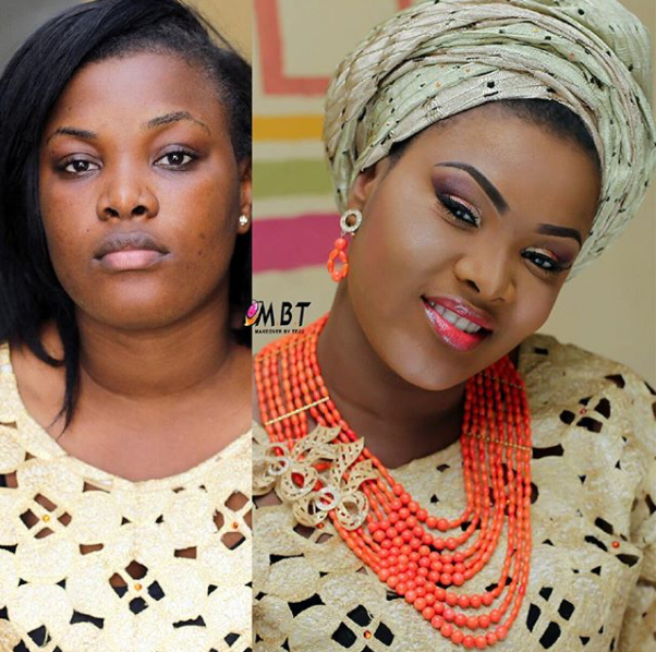 LoveweddingsNG Before and After - Makeover by Teju