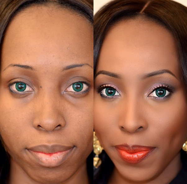 LoveweddingsNG Before and After - Misz Posh MUA