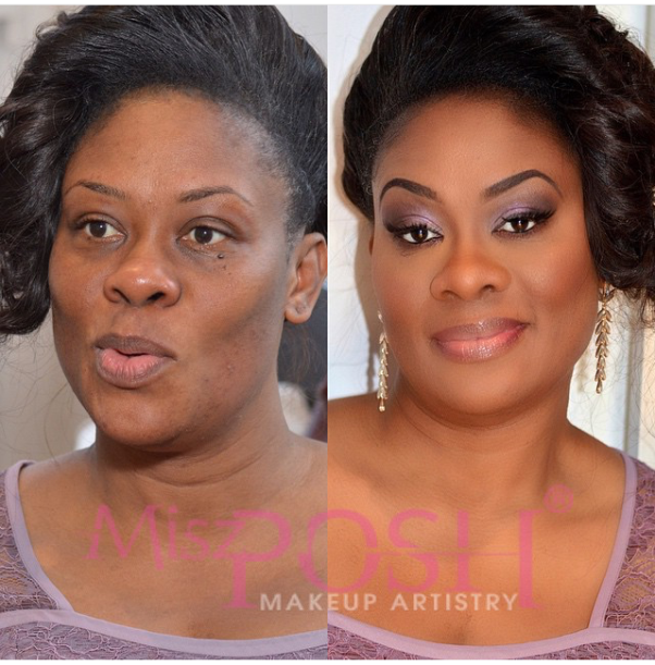 LoveweddingsNG Before and After - Misz Posh MUA1