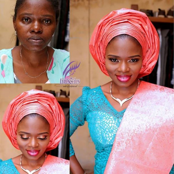 LoveweddingsNG Before and After - Tints & Ties Makeup1