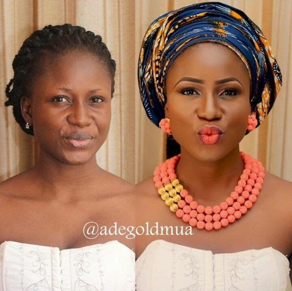 LoveweddingsNG Before meets After - Adegold MUA