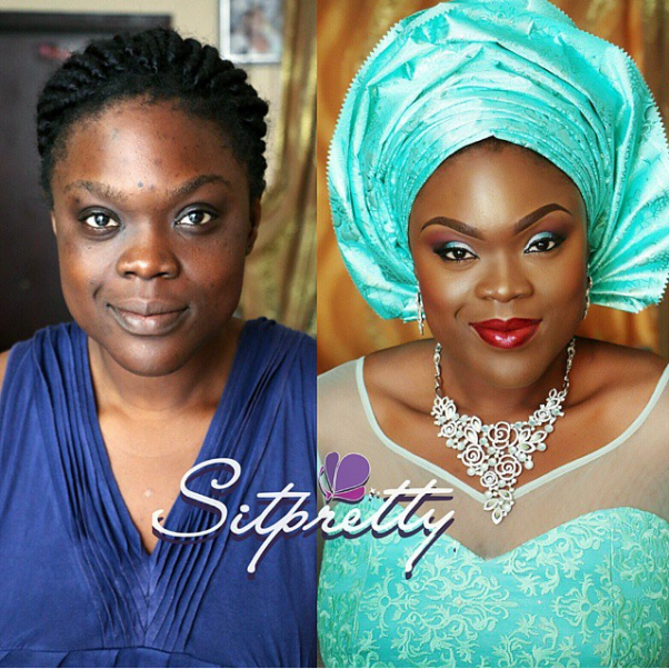 LoveweddingsNG Before meets After - Sitpretty Makeup