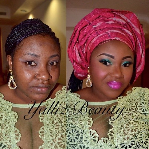 LoveweddingsNG Before meets After - Yalliz Beauty6