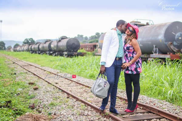 LoveweddingsNG Nigerian Pre Wedding Shoot Location - Coal City rail Caramel Photos3