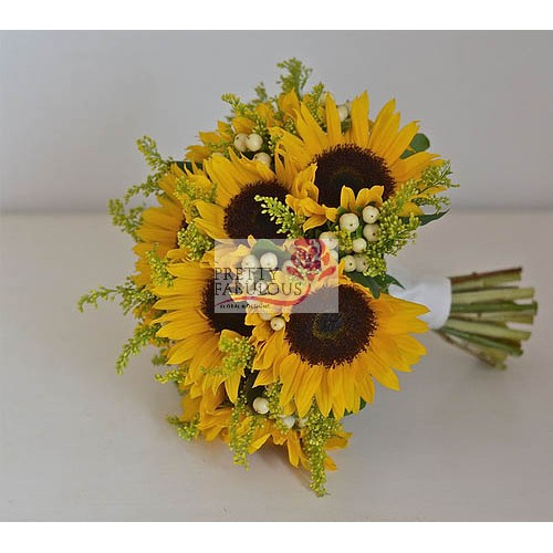 Sun Flowers With Berries by Pretty Fabulous
