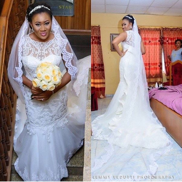 Nigerian Bridal Bouquet by Ferns and Blooms NG Lemmy Vedutti Photography LoveweddingsNG