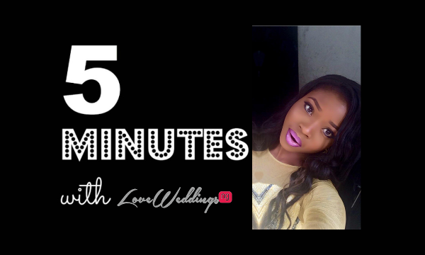 5 minutes with Mojisola Bellevous Makeovers LoveweddingsNG
