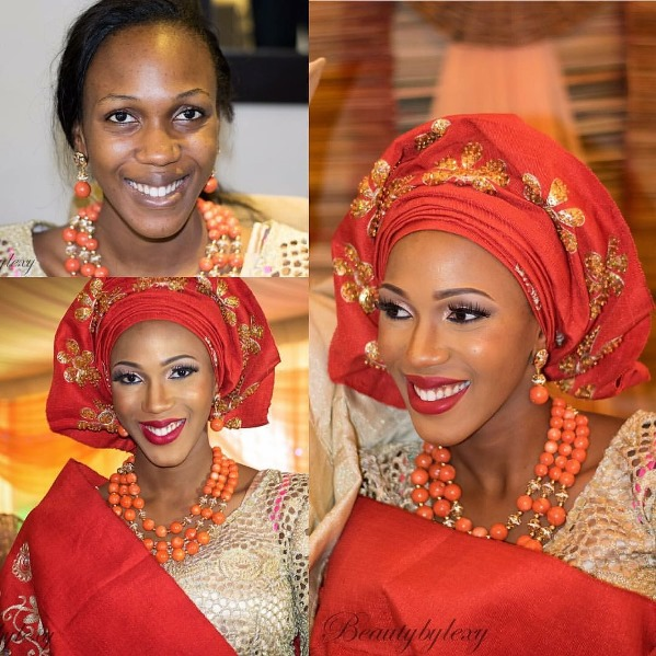 LoveweddingsNG Before and After Beauty by Lexy
