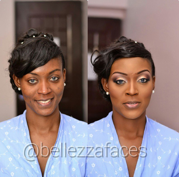 LoveweddingsNG Before and After Belleza Faces