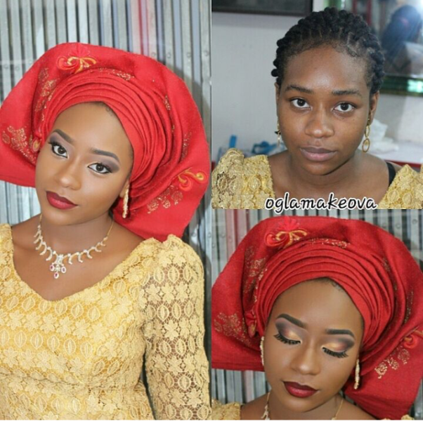 LoveweddingsNG Before and After - Ogla Makeova