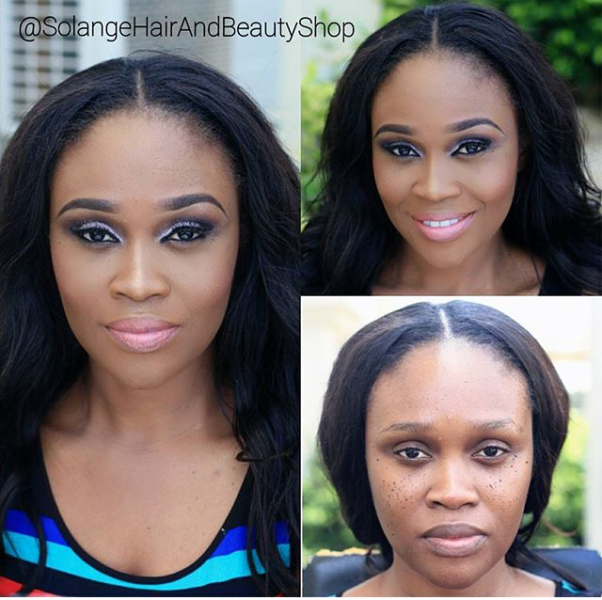 LoveweddingsNG Before and After Solange Hair and Beauty Shop