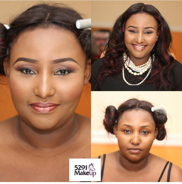 LoveweddingsNG Before and After Stephanie MUA