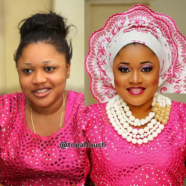 LoveweddingsNG Before and After - Topal Touch