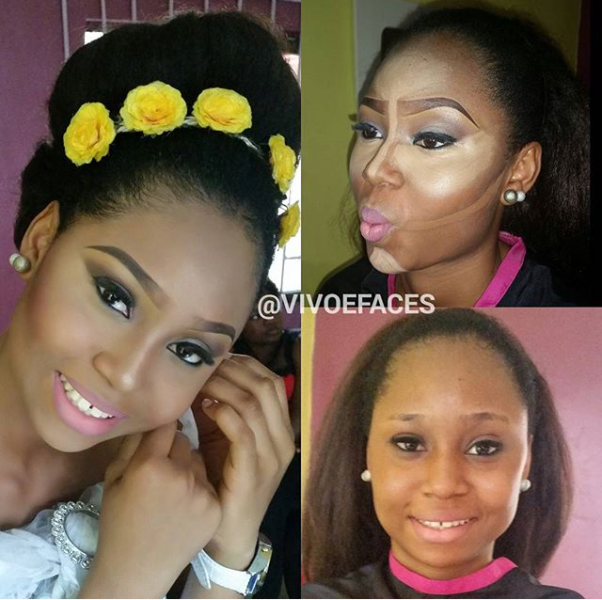 LoveweddingsNG Before and After VivoeFaces