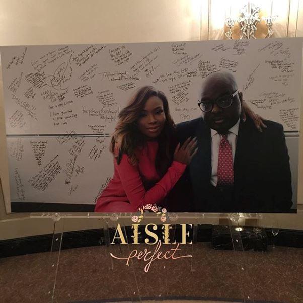 Dolapo Oni Gbite Sijuwade White Wedding Guest Book - LoveweddingsNG