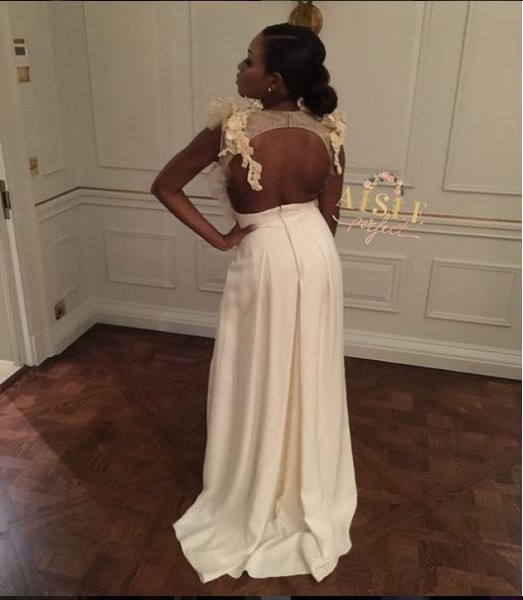 Marcy Dolapo Oni & Gbite Sijuwade's White Wedding LoveweddingsNG - bridal jumpsuit1