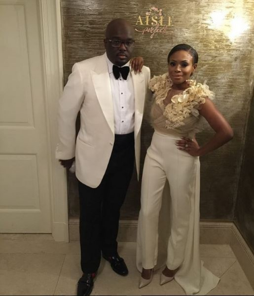 Marcy Dolapo Oni & Gbite Sijuwade's White Wedding LoveweddingsNG - bridal jumpsuit2