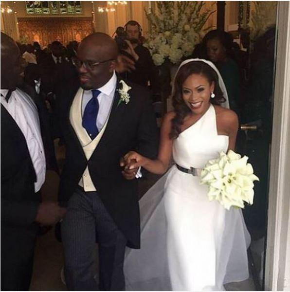 Marcy Dolapo Oni & Gbite Sijuwade's White Wedding LoveweddingsNG1