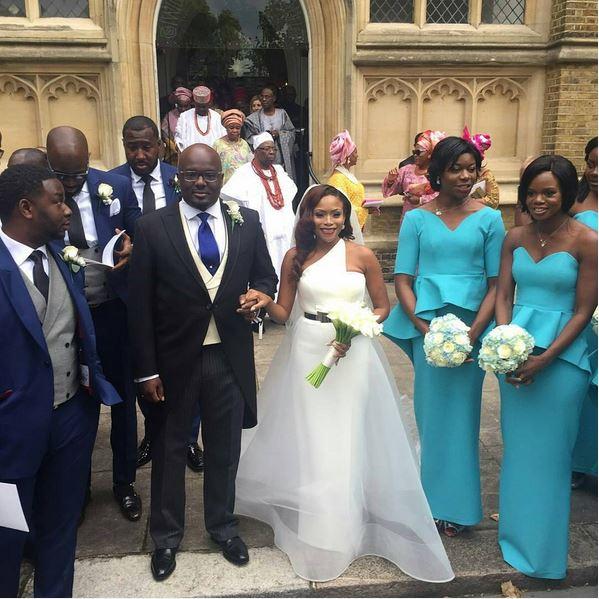 Marcy Dolapo Oni & Gbite Sijuwade's White Wedding LoveweddingsNG2