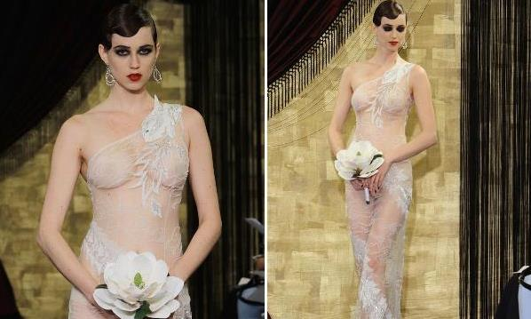 Sheer 'Naked' Bridal Gowns Take Over New York Bridal Fashion Week