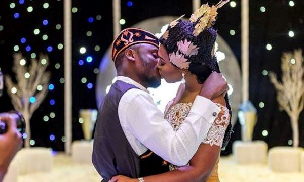 First Photos from Lilian Esoro & Ubi Franklin's White Wedding