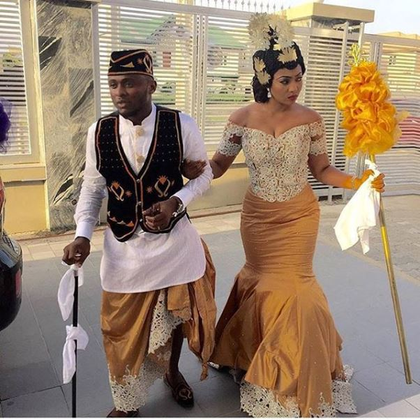 Lilian Esoro & Ubi Franklin White Wedding LoveweddingsNG