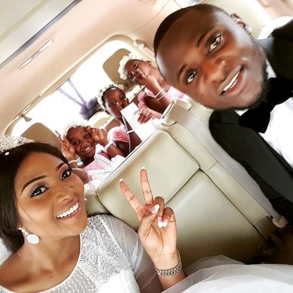 Lilian Esoro & Ubi Franklin White Wedding LoveweddingsNG6