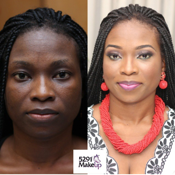 LoveweddingsNG Before and After 5291 Makeup