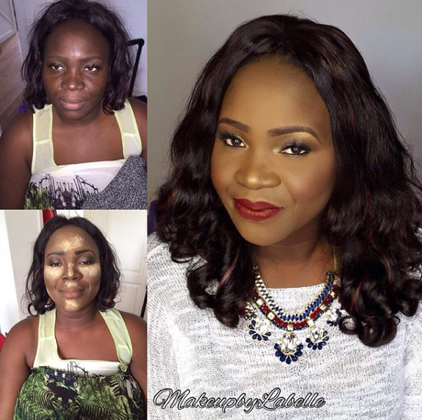 LoveweddingsNG Before and After Makeup by Labelle