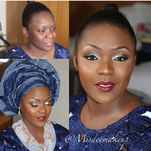 LoveweddingsNG Before and After Misdee Makeup1