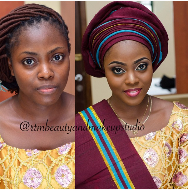 LoveweddingsNG Before and After RTM Beauty & Makeup Studio
