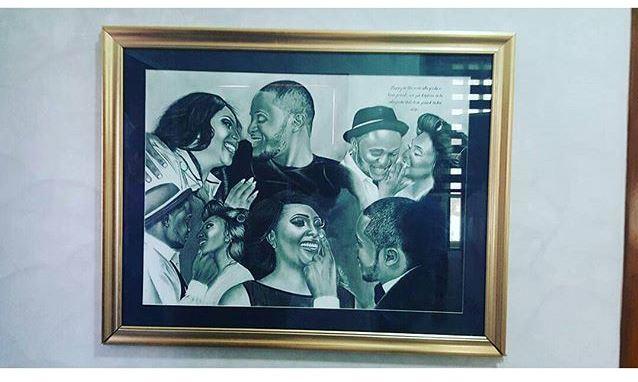 Nigerian Wedding Illustration Sketch - Ubi Franklin Lilian Esoro Fola David LoveweddingsNG2