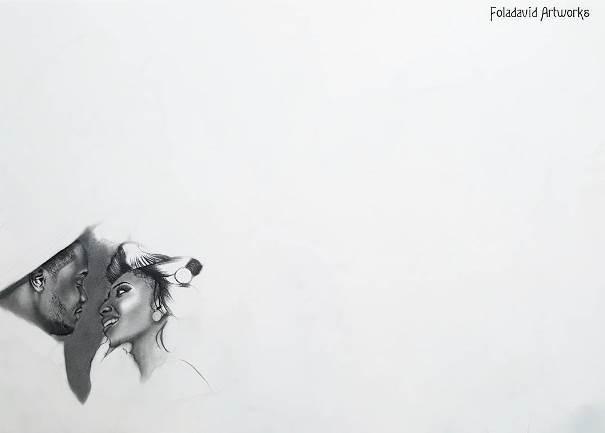 Nigerian Wedding Illustration Sketch - Ubi Franklin Lilian Esoro Fola David LoveweddingsNG7
