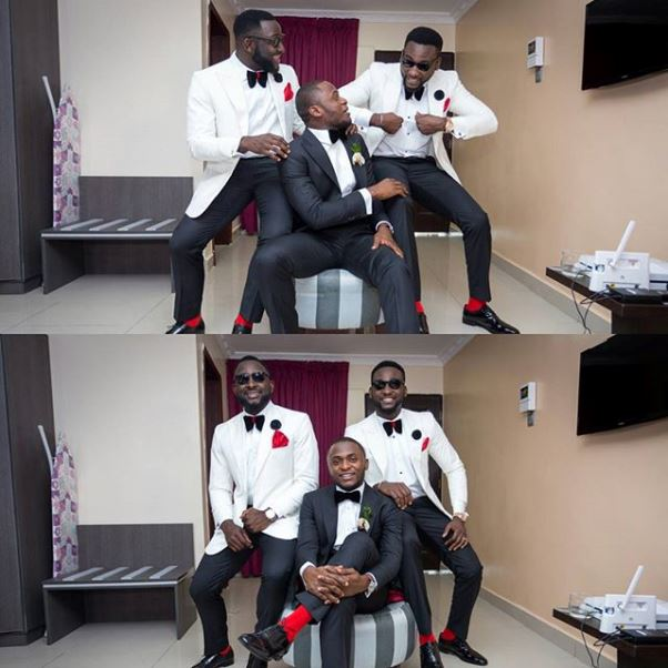 Ubi Franklin and Lilian Esoro White Wedding LoveweddingsNG2