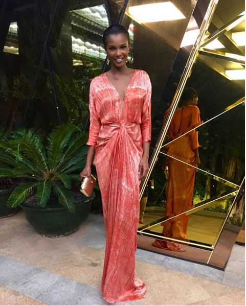 Agbani Darego in Tiffany Amber - Miss World 2015 LoveweddingsNG 2