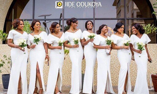 Nigerian Bridesmaids in White Nigerian Wedding Trends 2015 - LoveweddingsNG