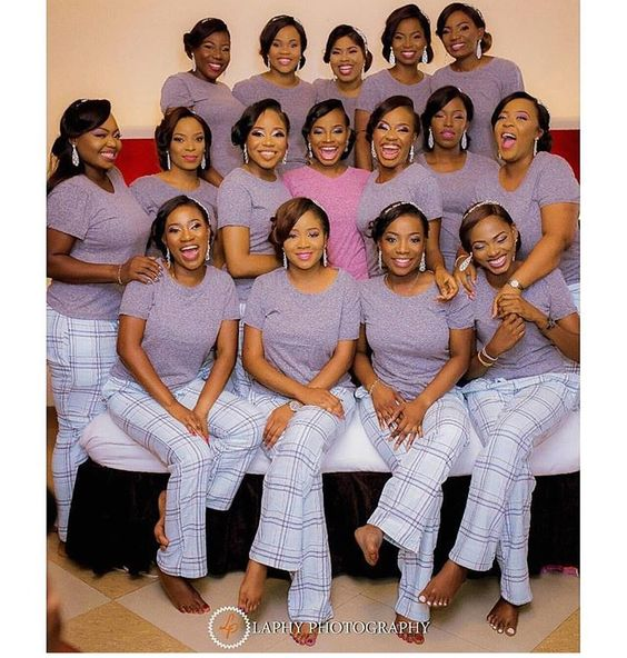 Nigerian Wedding Alternatives to bridal robes Pyjamas LoveWeddingsNG Laphy Photography
