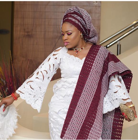 Nigerian Wedding Trend - Lace Iro & Buba LoveweddingsNG 1
